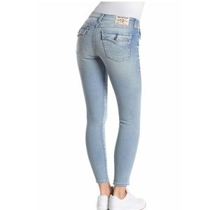 True Religion Flap Pocket Super Skinny Jeans